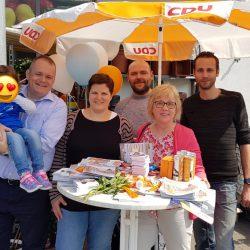 Wahlstand Edeka Untergrombach